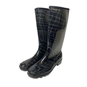 Henry Ferrera Black Rubber Rain Boots